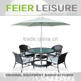 FEIER A6017CH Living Room Coffee Tables Rattan Wicker Dining Set