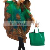 Triveni Chic Green Colored Digital Printed Faux Georgette Kurti 1145 L
