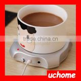 UCHOME New USB Hub Tea/Coffee/Milk Beverage Warmer Heater Electric Cup Warm Pad for PC Laptop