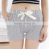 2016 wholesale sexy tight womens polyester gym workout shorts adult stripe shorts