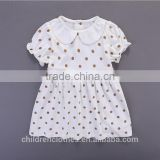 Summer Wholesale Boutique Baby Girl Soft Clothes Polka Dots Peter Pan Collar Casual Dress