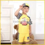 Fashion 2016 Baby Boys Swimming Suits Toddle 3 Pcs Child T Shirt And Infant Pants With Hat Kids Swimwear Spring Wear SR40416-5Y