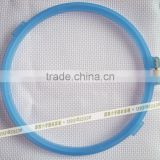 made in China wholesale colorful plastic hoops frosted embroidery hoop craft hoops cross stitch toy