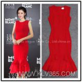 New Fashion Dress Design Elegant Ladies Red Mermaid Evening Dress