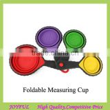 Wholesale Colourful Portable Collapsible Silicone Measuring Cup Spoons