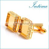 Gold diamond Cufflink Blank