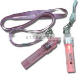 whistle with flashlight