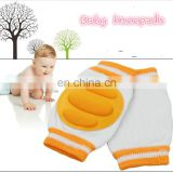 Professional amazon supplier soft cotton baby knee pads for crawling girl/bay