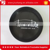 Round printed non-slip coating plastic bar equipment food serving tray with logo