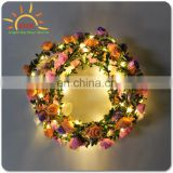 2017 new product , Colorful handmade Flower garland