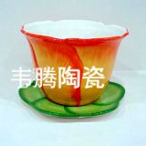 2017 wholesale ceramic flower pot and saucer planter