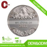 Custom engraved silver coin/military coin