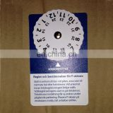 Mini self adhesive plastic car parking disc