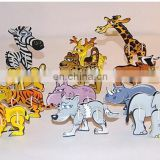 Easy assemble wild animal puzzle 3D foam puzzle