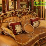 French Luxury Rococo  Hand Carved High Quality Living Room Fabric Sofa Set