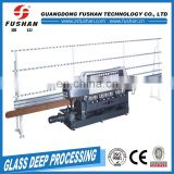 The Best and Cheapest ce regulated glass straight beveling machine with 9 motorsglass edge grinding factory price