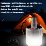 Solar LED Emergency Light Bulb 3 Mode Rechargeable Battery Lighting Lamp for Home Outdoor Camping Maintenance Night Market Stall