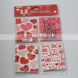 2016 new hot selling handmade wholesale Mini love card, Valentine's card, greeitng card, card and envelope set