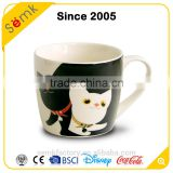 Valentine's day gift custom ceramic a pair of mugs white black mug from China                                                                         Quality Choice