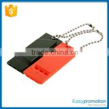 Custom logo plastic whistle keyring for survival wholesale                                                                         Quality Choice