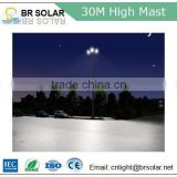 30m ASTMA123 hot-dip galvanized steel lifting system high mast lighting with metal halid lamp