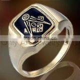 simple masonic ring shiny polished and comfort fit 925 sterling silver or brass signet ring