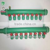 PPR temperature resistance Manifold/Water collector manifold for PERT/PEXa Floor Heating Pipes