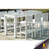 Fashion club villa bar furniture outdoor use bar table and chair rattan bar set