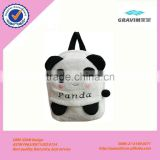 Cute soft plush panda cat and elephant animal bag for baby outdoor use