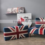 S-1501 2015 new design fabric union jack ottoman                                                                         Quality Choice