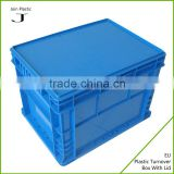 Portable plastic box in office or fruit transport container