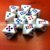 8 face point dice/D8 blank Can be customized screen printing, engraving LOGO/Polyhedron LOGO dice