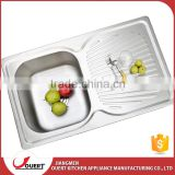 OURET 2016 new style simple design high quality 304 stainless steel topmount kitchen sink cabinets