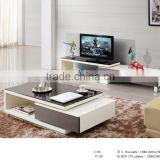 Modern design plexiglass top living room center coffee table design