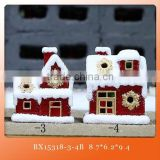 hot sale beautiful ceramic christmas light house for home decor