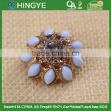 New arrival flower colorful pearl shank button 15771