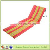 Manufacturer Stripe folding chair Beach mat with backrest and portable bag-CH6011orange