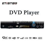 5.1CH portable Home DVD player with display USB SD Karaoke 8 language 32 subtitle in home player