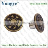 Custom metal Brass fashion denim jean button for garments                                                                                                         Supplier's Choice