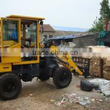 mini Forklift wheel Loader/zl08 mini Wheel Loader with pallet fork /Front end Loader for block lifting