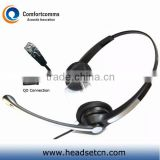 High quality call center telecommunication professional headset with RJ9 plug for telephone system HSM-902FPQDRJ