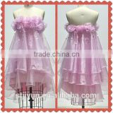 Chaozhou Wholesale Pink Organza Homecoming Cocktail Evening Dress