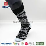2014! New Custom Design Elite Cotton Mens Socks mosaic sport pattern China Manufacturer in High Quality!