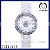 fashion high quality OEM ODM sapphire crystal watches rhinestone bezel*beautiful sapphire crystal ceramic watches
