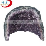 2015 Natural amethyst crystal cluster, amethyst crystal geode slice, charming purple crystal,natural agate geode carving