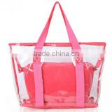 red gift pvc summer beach bags with small wallets from manufacturer                                                                         Quality Choice