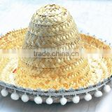 Children mexican straw sombrero hat for kids