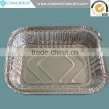 Disposable aluminium foil container for pizza pan