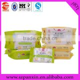 China supplier high barrier wet tissue packaging/wet wipes packing bag/ wet towel packing bag