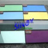 china factory 4mm 5mm 6mm thickness tinted float glass made colored mirror glass Safety backing avilable